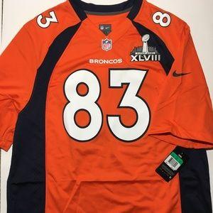 Nike NFL Wes Welker Broncos Super Bowl Jersey XL